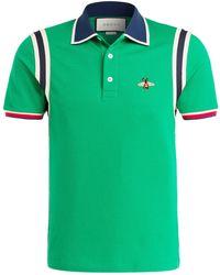 Gucci - Piqué-Poloshirt - Lyst