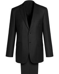 Brioni - 'essential' Black Brunico Suit - Lyst