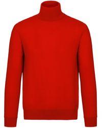 Brioni - Red Turtleneck Sweater - Lyst