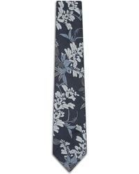 Brioni - Navy Blue Macro Design Tie - Lyst
