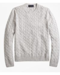 Brooks Brothers - Two-ply Cashmere Cable Crewneck Sweater - Lyst