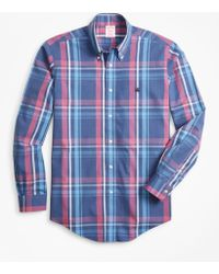 Brooks Brothers - Non-iron Madison Fit Plaid Sport Shirt - Lyst