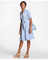 Brooks Brothers - Petite Gingham Cotton Shirt Dress - Lyst