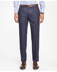 Brooks Brothers | Milano Fit Stretch Flannel Trousers | Lyst