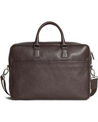 Brooks Brothers - Pebble Leather Slim Briefcase - Lyst