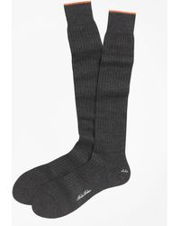 Brooks Brothers - Merino Wool Golden Fleece® Sized Over-the-calf Socks - Lyst