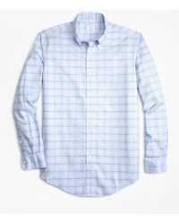 Brooks Brothers - Non-iron Regent Fit Double-grid Check Sport Shirt - Lyst
