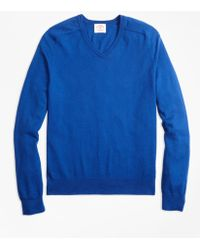 Brooks Brothers - Cotton-cashmere V-neck Sweater - Lyst