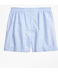 Brooks Brothers - Traditional Fit Glen Plaid Boxers - Lyst
