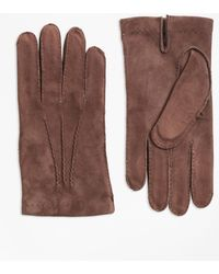 Brooks Brothers - Suede Gloves - Lyst