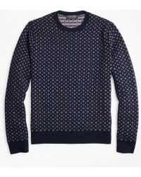 Brooks Brothers - Merino Wool Foulard Jacquard Crewneck Sweater - Lyst