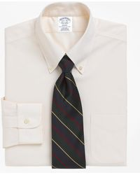 Brooks Brothers - Non-iron Regent Fit Button-down Collar Dress Shirt - Lyst