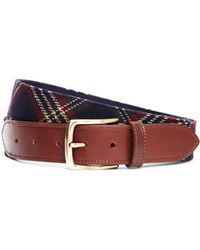 Brooks Brothers - Signature Tartan Wool Belt - Lyst