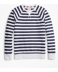 Brooks Brothers - Striped French Terry Sweatshirt - Lyst