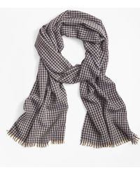 Brooks Brothers - Cashmere Houndstooth Scarf - Lyst