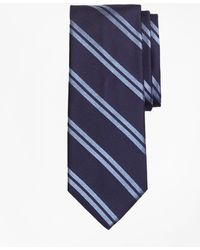 Brooks Brothers | Textured Heathered Double Stripe Tie | Lyst