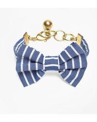 Brooks Brothers - Kiel James Patrick Seersucker Stripe Bow Tie Bracelet - Lyst