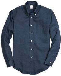 Brooks Brothers - Madison Fit Linen Sport Shirt - Lyst