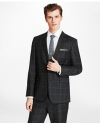 Brooks Brothers - Windowpane Two-button Wool Suit Jacket - Lyst