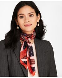 Brooks Brothers - Mixed-print Silk Square Scarf - Lyst