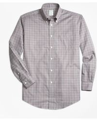 Brooks Brothers - Non-iron Regent Fit Glen Plaid Sport Shirt - Lyst