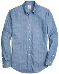 Brooks Brothers - Madison Fit Chambray Anchor Sport Shirt - Lyst