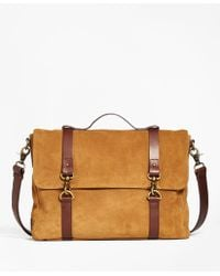 Brooks Brothers - Suede Convertible Brief/messenger Bag - Lyst