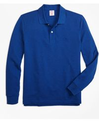 Brooks Brothers - Original Fit Supima® Long-sleeve Performance Polo Shirt - Lyst