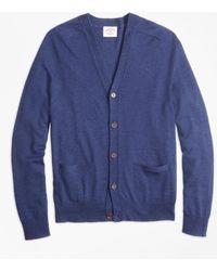Brooks Brothers - Merino Wool V-neck Cardigan - Lyst
