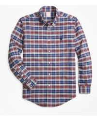 Brooks Brothers - Non-iron Regent Fit Heathered Plaid Sport Shirt - Lyst