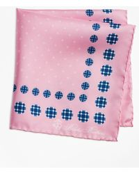 Brooks Brothers - Plaid And Dot Pocket Square - Lyst