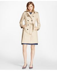 Brooks Brothers - Cotton Twill Trench Coat - Lyst