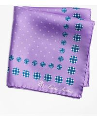 Brooks Brothers | Plaid And Dot Pocket Square | Lyst