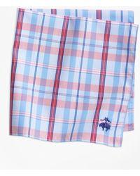Brooks Brothers - Supima® Cotton Vertical Plaid Pocket Square - Lyst