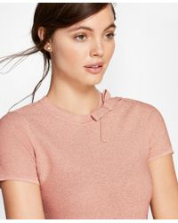 Brooks Brothers - Shimmer-knit Short-sleeve Sweater - Lyst