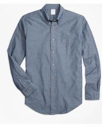 Brooks Brothers - Milano Fit Indigo Chambray Sport Shirt - Lyst