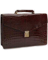 Brooks Brothers - Alligator Billfold Briefcase - Lyst
