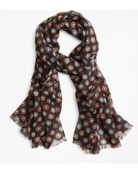 Brooks Brothers - Circle And Dot Wool Scarf - Lyst