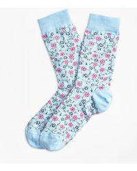Brooks Brothers | Floral Socks | Lyst