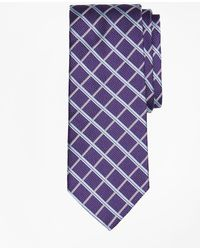 fdfba7e048ea Lyst - Brooks Brothers Golden Fleece® 7-fold Satin Windowpane Tie in ...