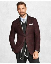 Brooks Brothers - Golden Fleece® Brookscloudtm Burgundy Plaid Sport Coat - Lyst