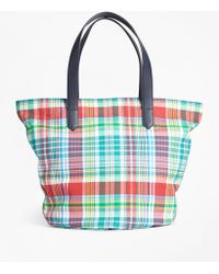 Brooks Brothers - Madras-print Canvas Tote Bag - Lyst