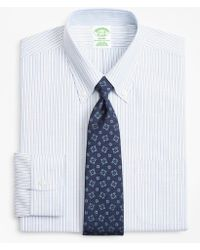 Brooks Brothers - Brookscool® Milano Slim-fit Dress Shirt, Non-iron Alternating Stripe - Lyst