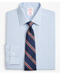 Brooks Brothers - Traditional Relaxed-fit Dress Shirt, Non-iron Plaid Framed Overcheck - Lyst