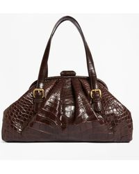 Brooks Brothers - Alligator Soft Frame Bag - Lyst