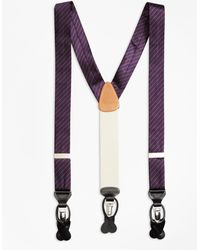 Brooks Brothers - Tonal Stripe Suspenders - Lyst