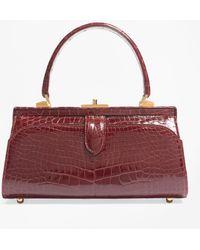 Brooks Brothers - Glazed Alligator Frame Bag - Lyst