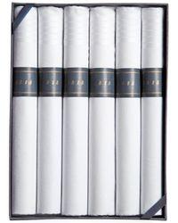 Brooks Brothers - Cigar-rolled Handkerchiefs-6pk - Lyst