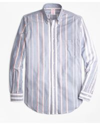 Brooks Brothers - Madison Fit Oxford Bold Stripe Sport Shirt - Lyst