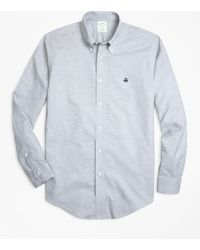 Brooks Brothers - Non-iron Milano Fit Heathered Oxford Sport Shirt - Lyst